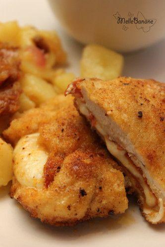 Cordon bleu au chorizo, pomme de terre au vin blanc | Melle Banane's Cuisine