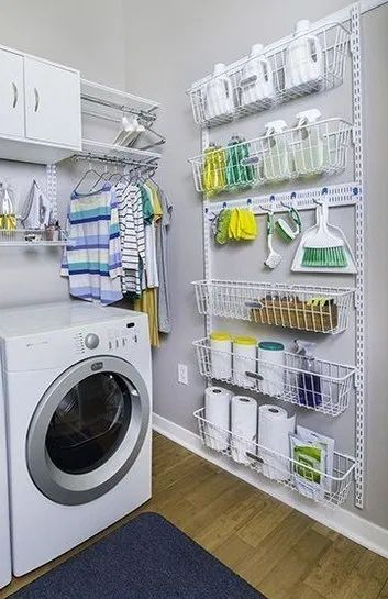98+ Stunning DIY Laundry Room Storage Shelves Ideas #laundryroomideas #laundryroommakeover #laundryroomstorage | ekawer.com