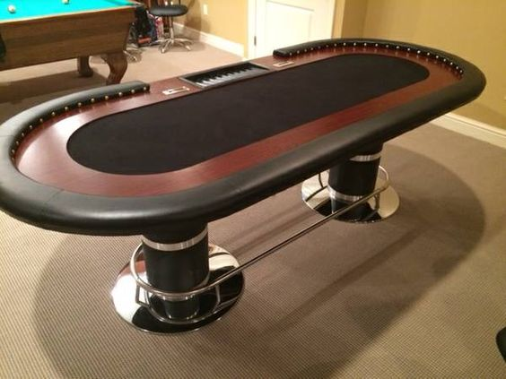 Superior Brand New Poker Table Seats 10 Comfortably. Has Two Separate Cash Boxes  With Keys.