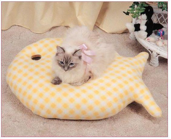 Ceci EuQfiz: Almofada para gatos com moldes