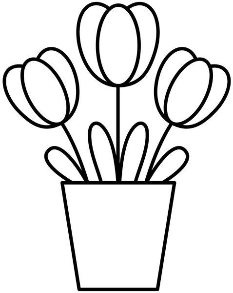 Free Digital Stamp - Flowers