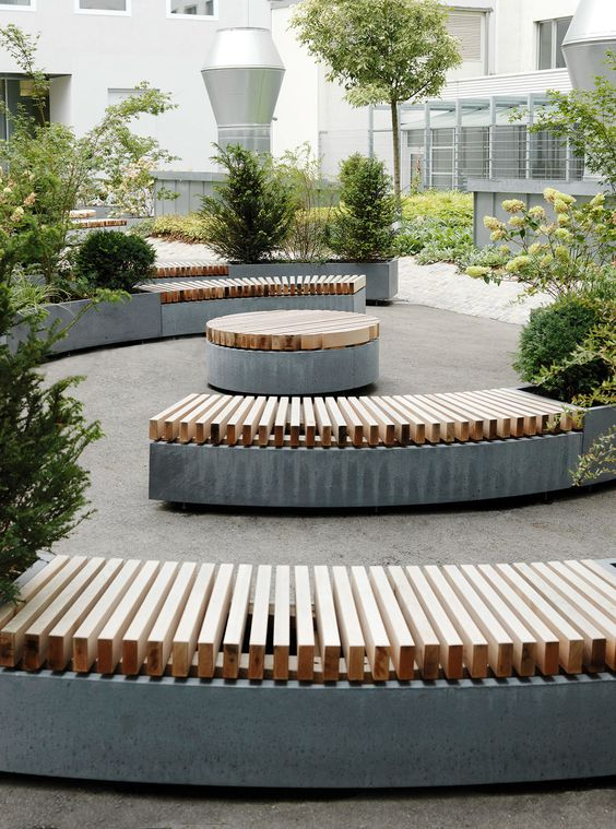 This seating surface at round platforms?    outdoor furniture on Behance
