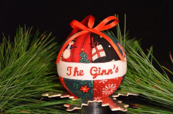 Family Ornament.  Kimekomi style.  Personalized with family name.  Go to www.craftcrazy4u.....  $12.00