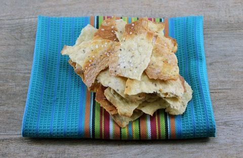 Black Pepper and Thyme Olive Oil Crackers