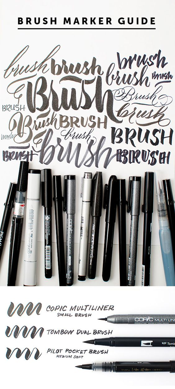 A simple guide to brush markers typography design