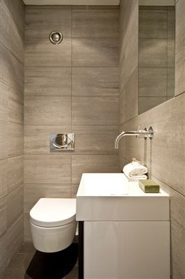 Modern cloakroom cloakroom pinterest taps for Downstairs bathroom ideas