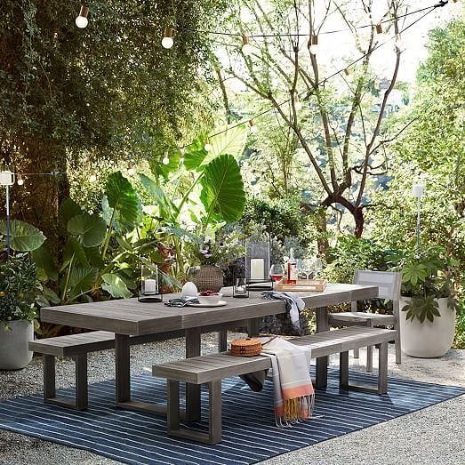 Cord Stripe Indoor Outdoor Rug With Images Outdoor Dining Outdoor Dining Table Outdoor Dining Set