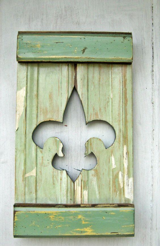 Reclaimed Wood Fleur De Lis New Orleans Decor by woodenaht, $30.00 - Reclaimed Wood Fleur De Lis, New Orleans Decor, Salvaged Wood Art
