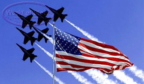 I love my country, patriotic through and through! Love airplanes/jets too so this pic is perfect. God bless the USA!