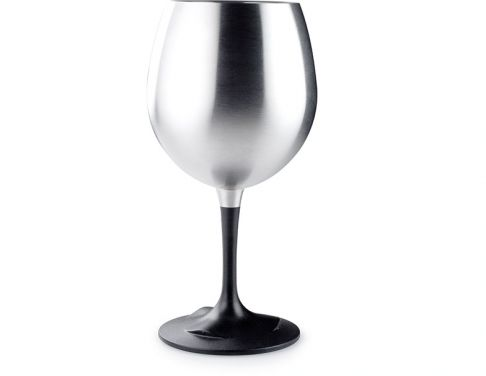 Stainless Steel Wine Glass - for camping and using outdoors. Your wine would stay nice and cold! from GSI