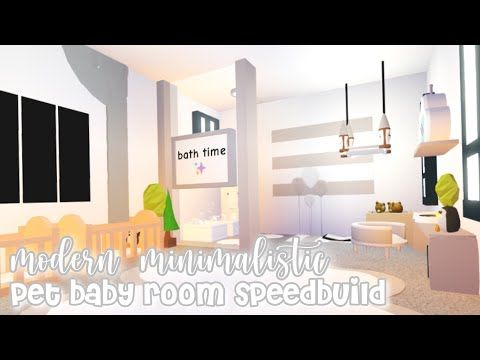 Adopt Me Speed Builds Youtube Futuristic Home Room Baby Room