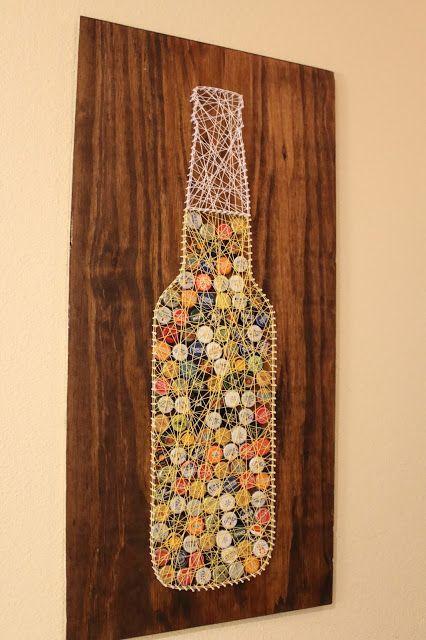 DIY Bottle Cap String Art Tutorial | Sam Rhymes with Ham