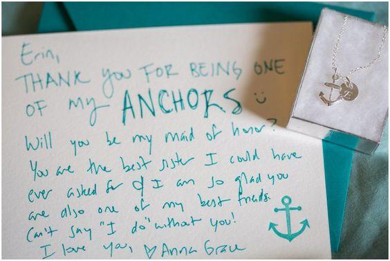 anchor bridesmaid gift