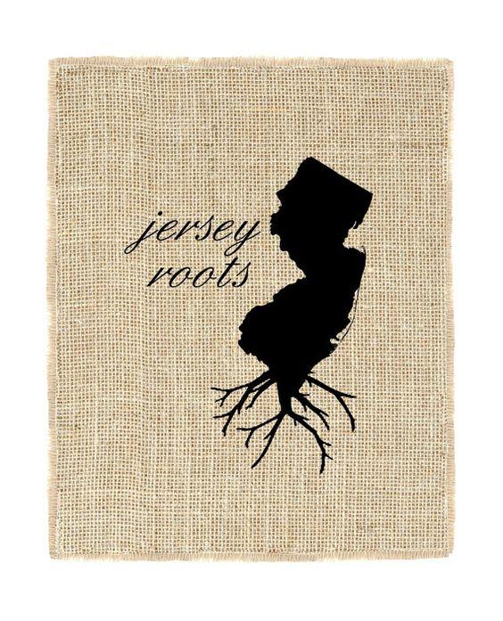 New Jersey Roots Unframed Wall Art Jersey Print by fiberandwater