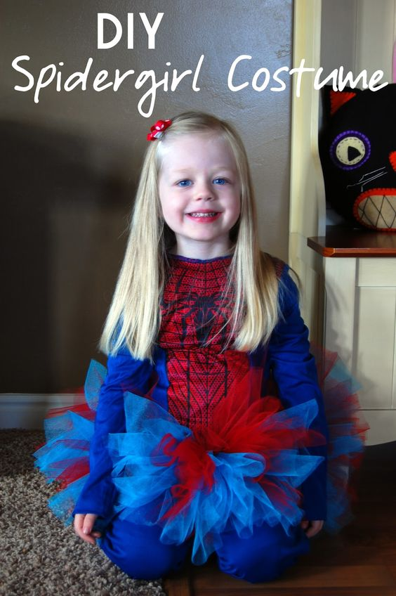 DIY Spidergirl Costume #rbdcostumeshare my husband would love this for our daughter
