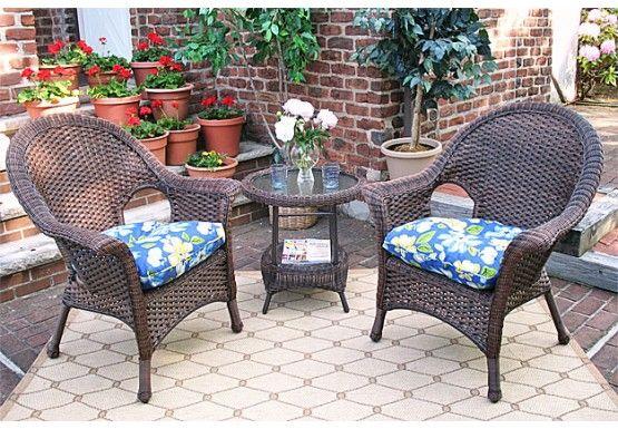 Resin Wicker Chat Set Veranda High Back Resin Wicker Outdoor Furniture Sets Wicker Chairs