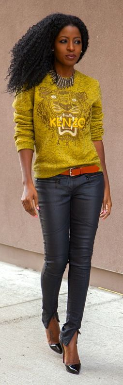 Kenzo Golden Embroidered Tiger Sweatshirt by Style Pantry