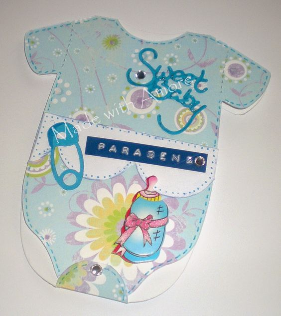 Made With Amore  by Vera Jorge: Baby Boy Card