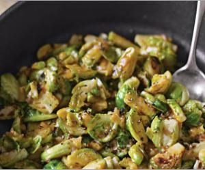Braised brussel sprouts in mustard sauce.   Things I want to make ...