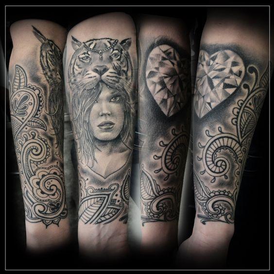 tigre mandala femme visage tattoo paisley cachemire tatouage ster tattoo pinterest. Black Bedroom Furniture Sets. Home Design Ideas
