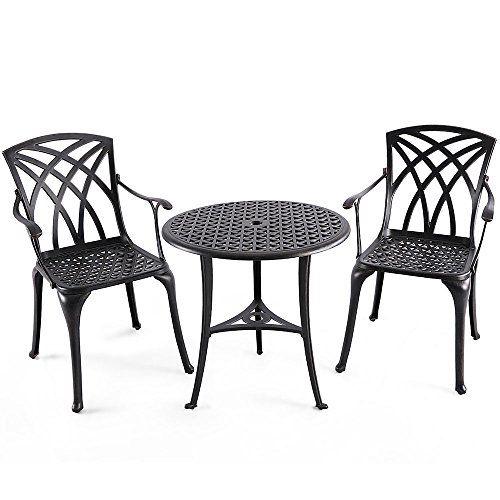 Katerina Bronze Cast Aluminum Armchair Patio Furniture Cushions Outdoor Chairs Armchair