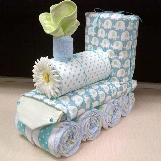 Train Diaper Cake~: