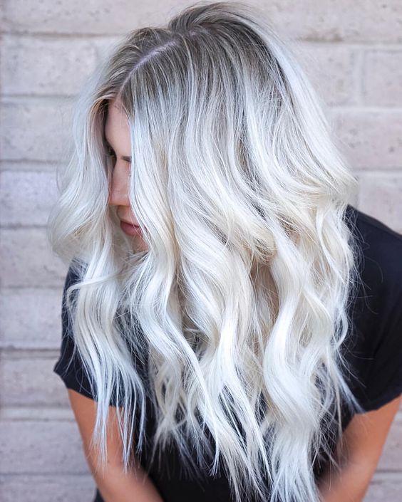 Окрашивание ледяной блонд