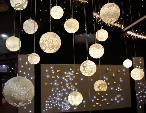 Lámpara araña moderna / de vidrio soplado / LED LUNES MONUMENTAL Semeur d'étoiles