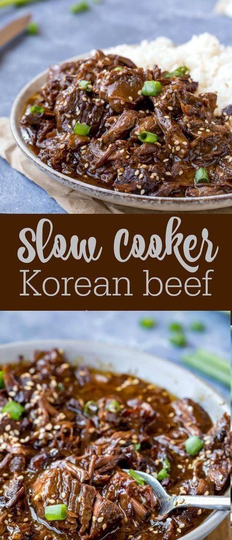 Slow Cooker Korean Beef #Beef #BeefRecipes #KoreanBeef | Kite's Recipes