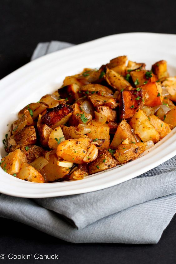 Grilled Potatoes Recipe with Rosemary & Smoked Paprika | cookincanuck.com #vegetarian #vegan #glutenfree