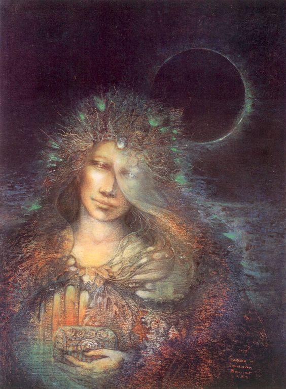 Psyches Last Task by Susan Seddon Boulet #goddess #art