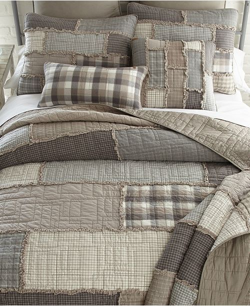 American Heritage Textiles Smoky Cobblestone Cotton Quilt Collection Queen Reviews Quilts Bedspreads Bed Bath Macy S Bed Linens Luxury Luxury Bedding Country Bedroom