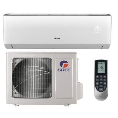 Gree Vireo 9 000 Btu 3 4 Ton Ductless Mini Split Air Conditioner And Heat Pump 230v 60hz Vir09hp230v1b The Home Depot Ductless Mini Split Ductless Air Conditioning Repair
