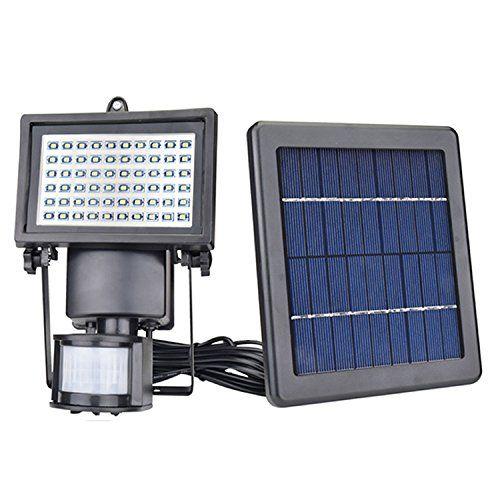 Jplsk Solar Motion Sensor Security Light 60leds Outdoor Waterproof 3w Solar Powered Flood Light Solar Powered Flood Lights Flood Lights Outdoor Garden Lighting