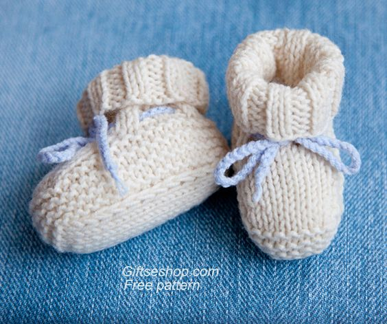 Baby booties, Knitting patterns baby and Patterns on Pinterest