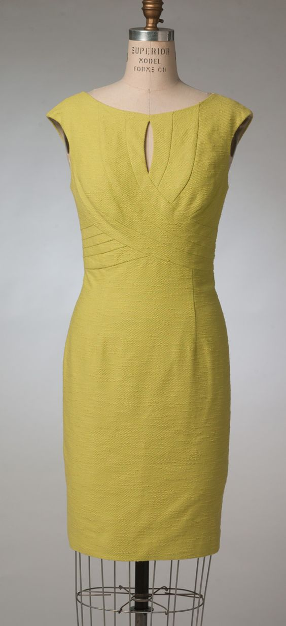 a slimming sheath dress from kay unger for vogue patterns