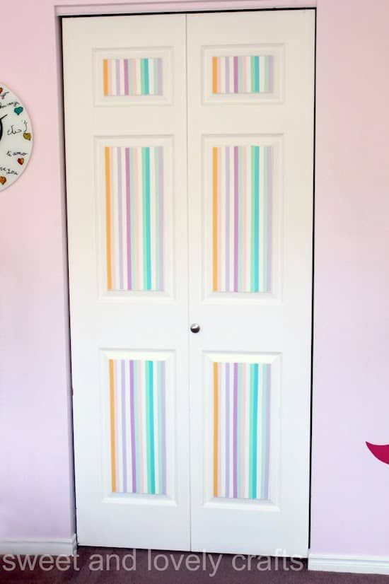 Rainbow Stripey Closet Doors Washi Tape Crafts Washi Tape