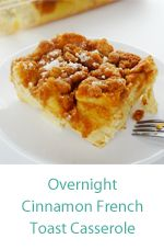 Over night cinnamon French toast