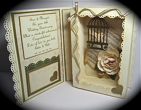 book boxes | My Buttons n'Bows: Shadow Box Card