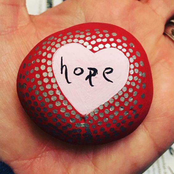 #hope #hopefloats #rockpainting #paintingrocks #valpaintsrocks Reposted Via @valpaintsrocks
