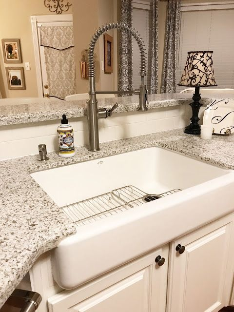 New Quartz Kitchen Counters With Images Farmhouse Apron Sink Short Apron Farmhouse Sink Farmhouse Sink