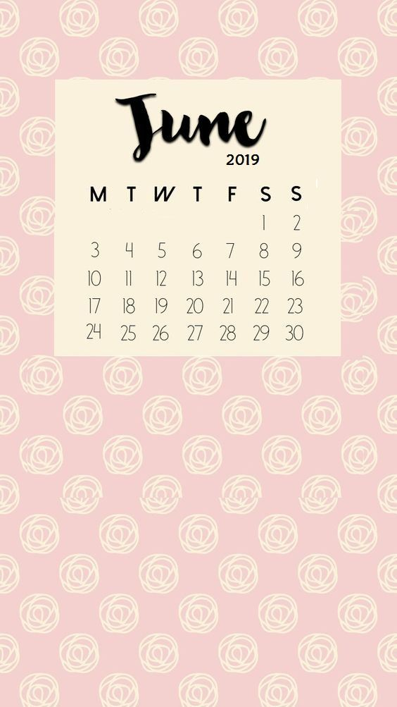June 2019 Iphone Calendar Wallpaper Kutipan