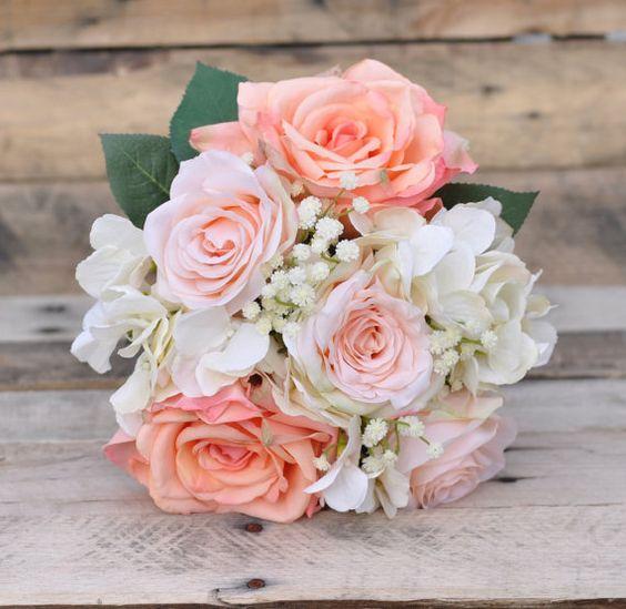 Silk Wedding Bouquet Wedding Bouquet by Hollysflowershoppe on Etsy