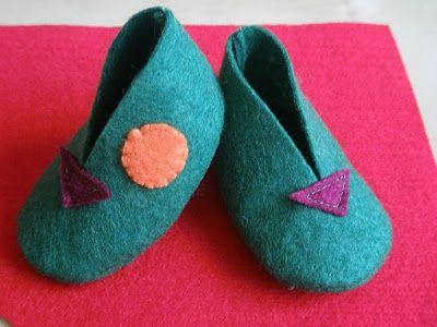 Tutoriales en Fieltro by Gaby: Tutorial zapatitos de fieltro para bebés