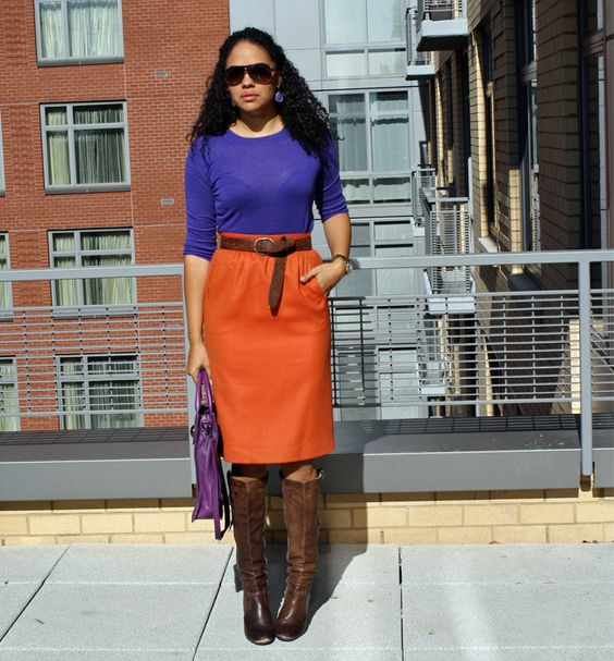 StilettoEsq: Purple & Orange