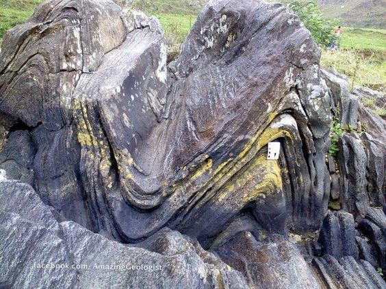 Syncline and anticline