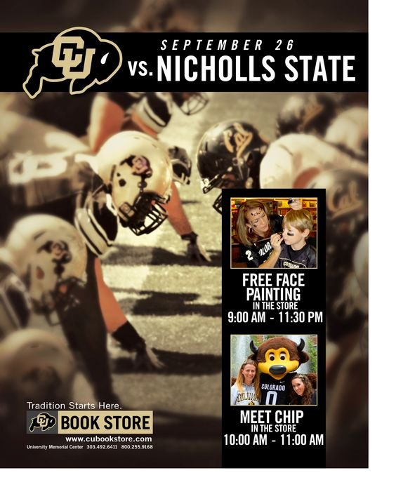 Game Day at the CU Bookstore