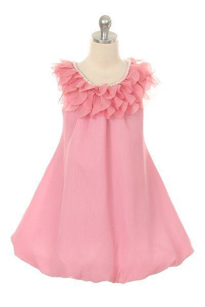 Delta Adelle Chiffon Flower Girl Dress