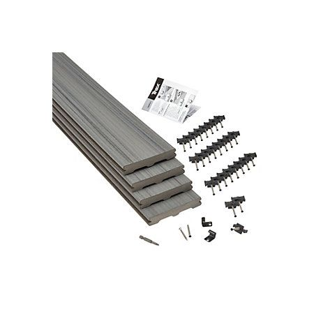 Trex® Chateau Grey Composite Deck Board (T)24mm (W)140mm (L)2400mm, Pack of 4 | Departments | DIY at B&Q