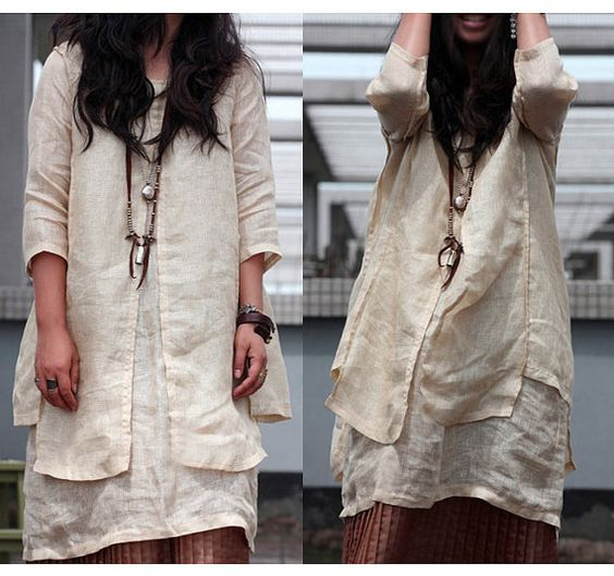Charming and Disarming Two Layers dress/ tunic / 20 by Ramies, $76.00